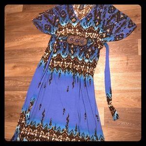 XXL exotic maxi dress 🦋🤎💙🤎